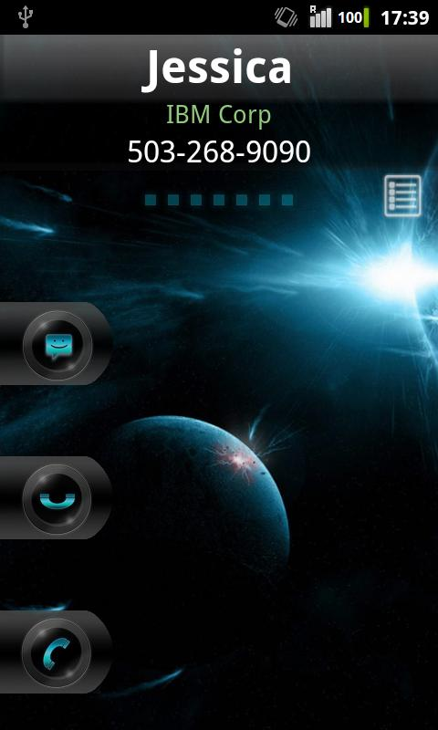 Rocket Caller ID Space Theme- screenshot