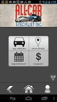 Screenshot of All Car Specialists
