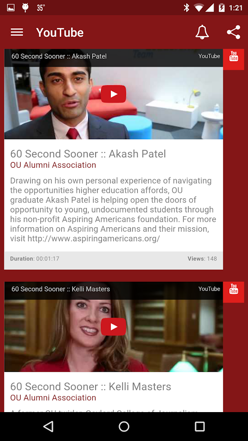 OU Alumni Association- screenshot