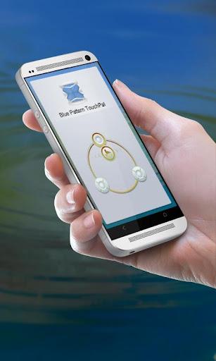 ブルー柄 TouchPal テーマ