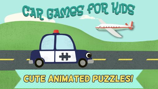 兒童汽車遊戲-趣味卡通飛機,警車,救火車,和汽車高清拼圖