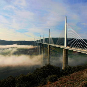 Viaduct from Millau by Dominic Jacob - Buildings & Architecture Bridges & Suspended Structures ( viaduct, viaduc, bridge, millau,  )