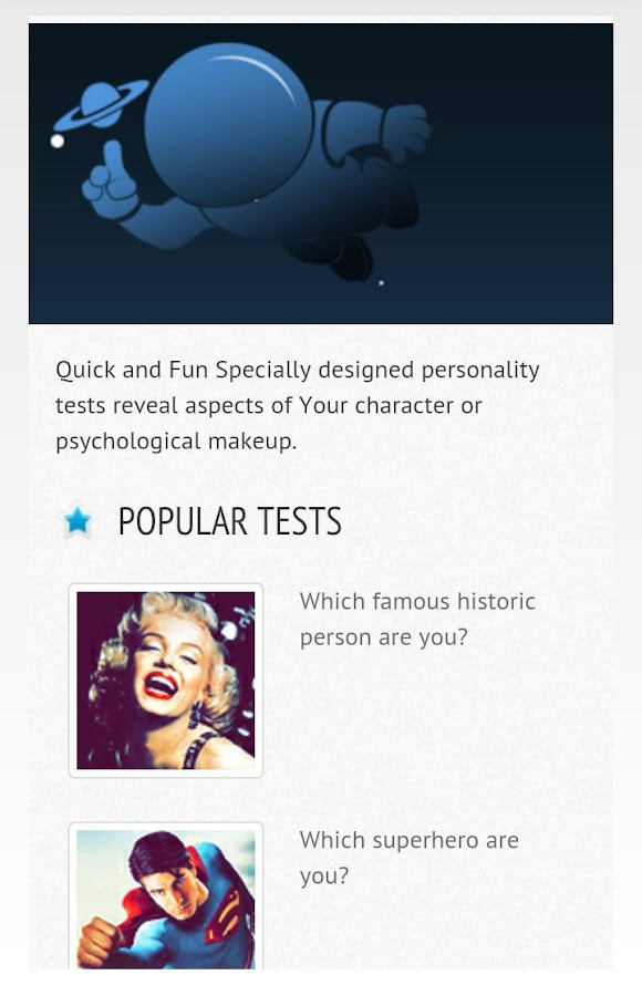 Testronaut - Personality tests- screenshot