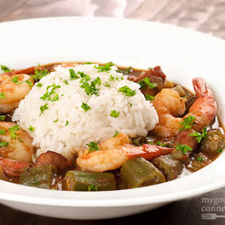 Easy Shrimp and Andouille Gumbo.