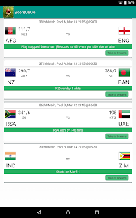 Cricket Live Scores On Go - screenshot thumbnail