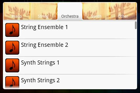 Orchestra - Midi Piano - screenshot