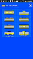 Screenshot of PCB Trace Calculator