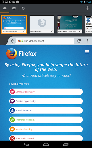 Firefox Browser Android v32.0 2014,2015 RPQRGXPLCapOjLZInxno
