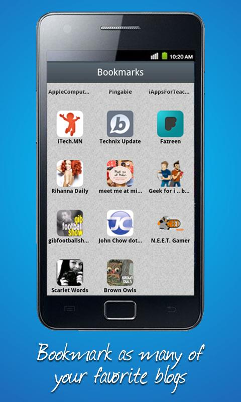Bloapp - screenshot