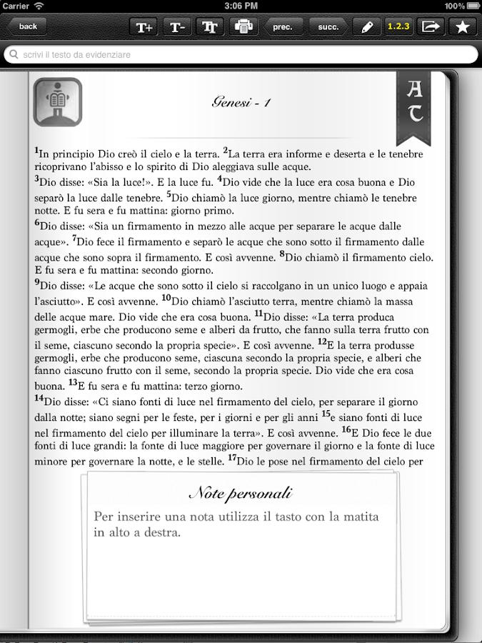 La Sacra Bibbia CEI - GRATIS- screenshot