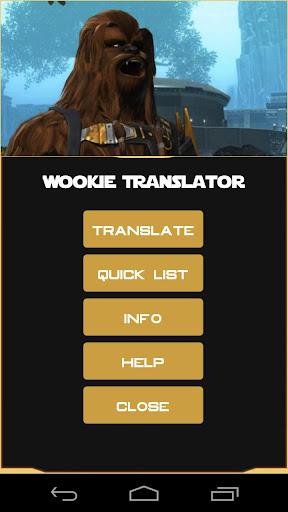 Star Wars Wookie Translator