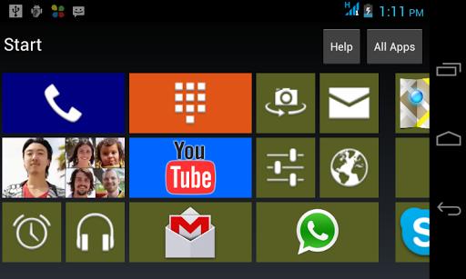 WinLauncher 8 Phone desktop