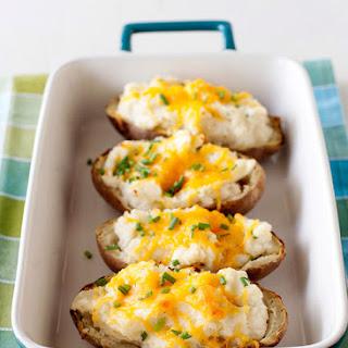 Horseradish and Chive Twice Baked Potatoes.