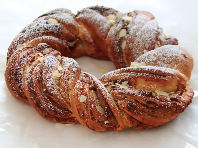 Braided Crown with Marzipan and Almonds