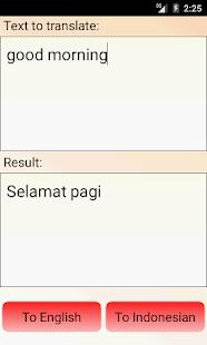 Indonesian English Translator - screenshot thumbnail