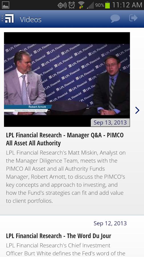 LPL Financial Mobile - screenshot