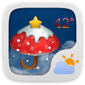 Christmas Theme GOWeatherEX icon