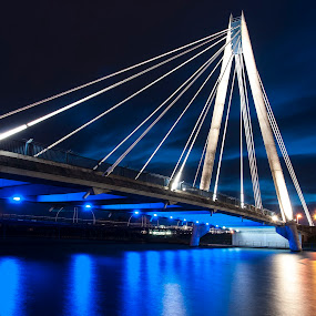 Marine Way bridge, Southport by Brian Leach - Buildings & Architecture Bridges & Suspended Structures