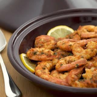 Spicy Moroccan Shrimp Tagine.