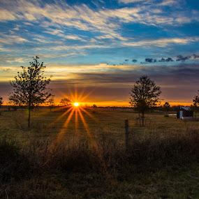 Waller Sunrise by Robert Marquis - Landscapes Sunsets & Sunrises ( sun up, sunrises )