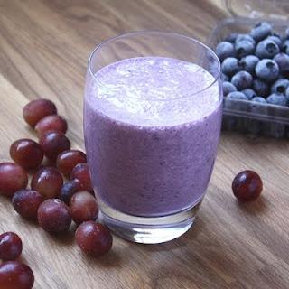Blueberry Grape Banana Smoothie