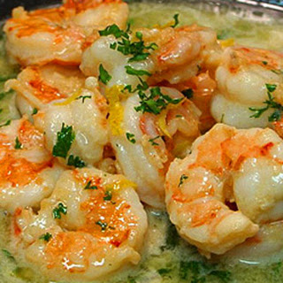 Easy & Healthy Shrimp Scampi.
