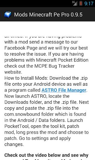 Mods Minecraft Pe Pro 0.9.5