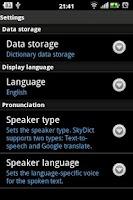 Screenshot of Từ điển SkyDict