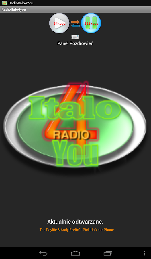 Radio Italo4You – zrzut ekranu