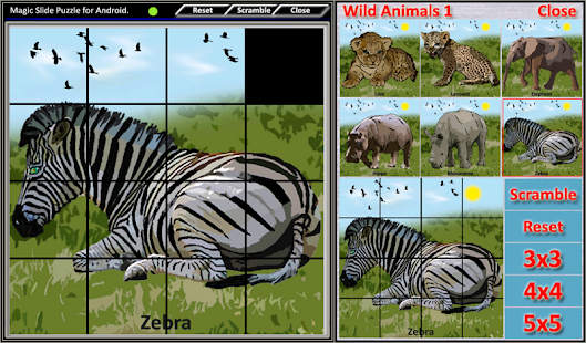 Magic Slide Puzzle W.Animals 1 Screenshot 7