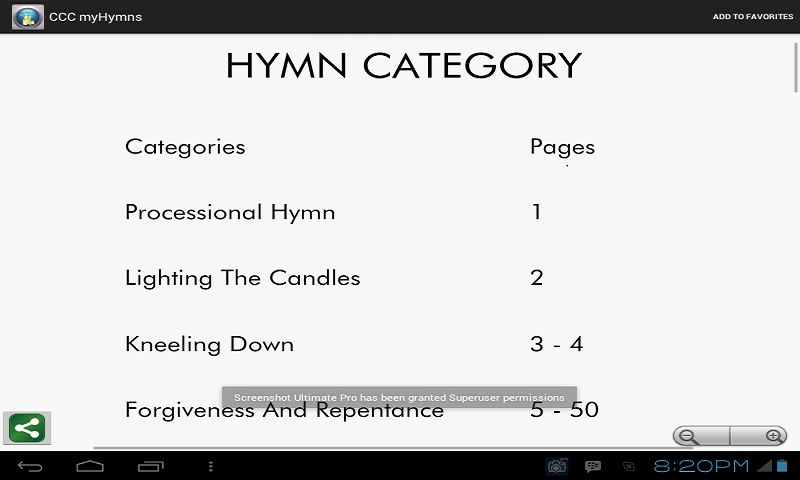 CCCmyHymns Multi - screenshot