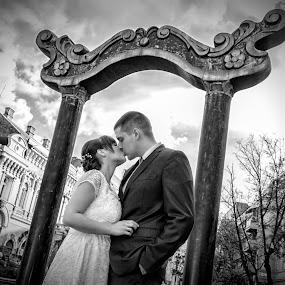 Dragana & Aleksandar by Jovan Barajevac - Wedding Bride & Groom ( love, kiss, novi sad, dream, wedding, venčanje,  )