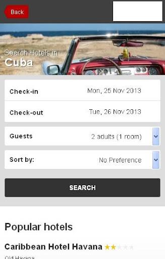 Cuba Hotel booking