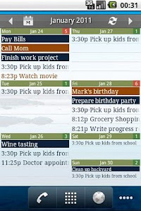 Checkmark All in One Calendar screenshot 1