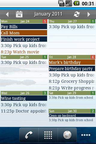Checkmark All in One Calendar - screenshot