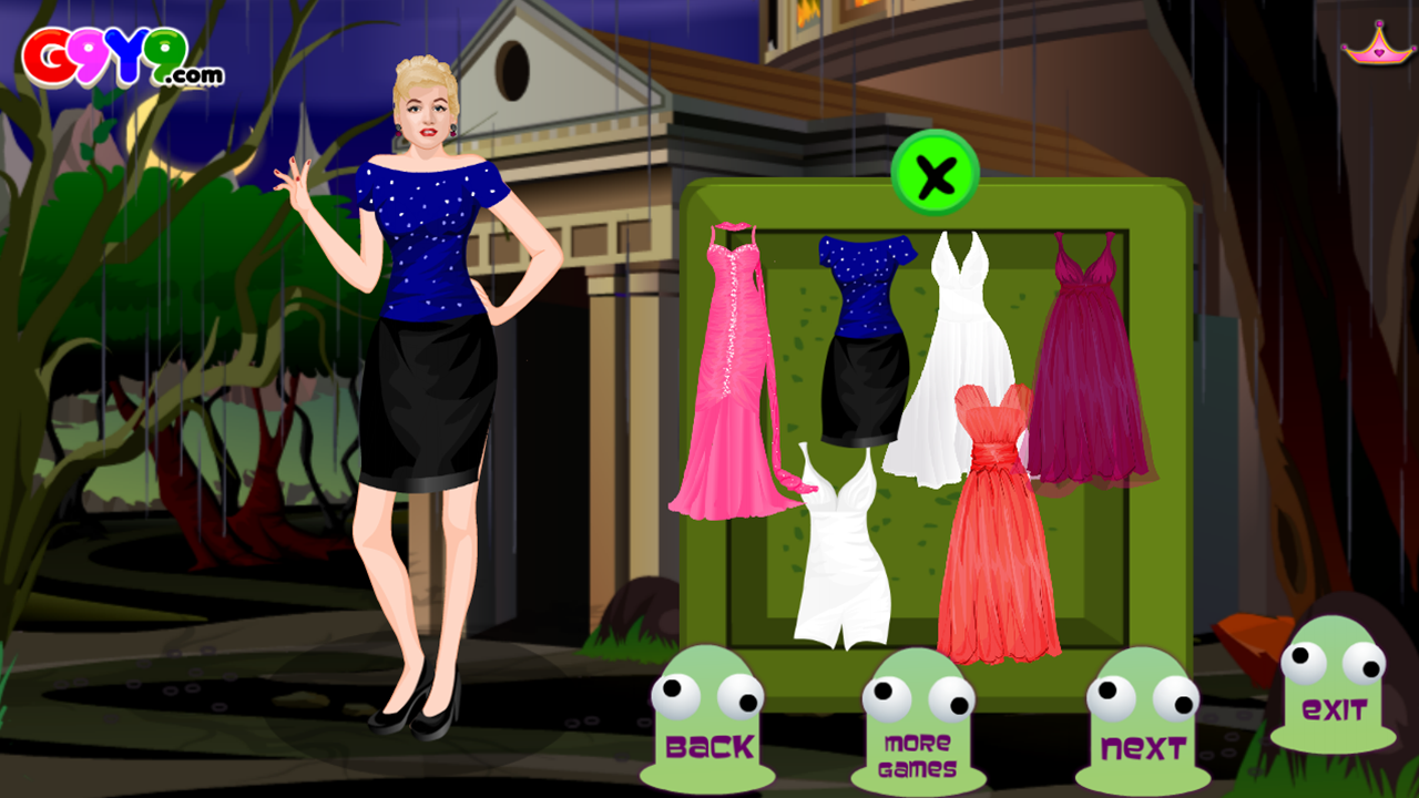 girl night out dress up- screenshot