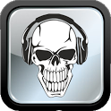mp3 skull download music icon