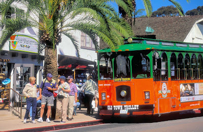 Old Town Trolley offers tours of San Diego.