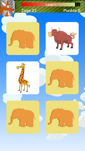 儿童动物记忆游戏