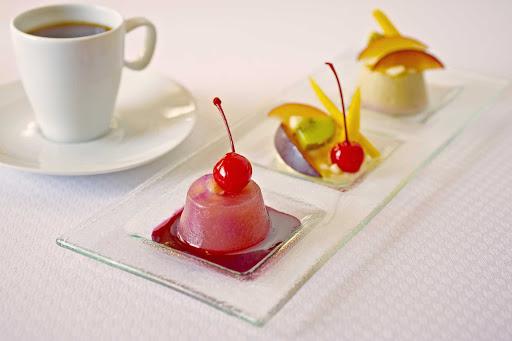 Windstar-Cruises-Amphora-Restaurant-6 - A dessert dish at Amphora Restaurant aboard Wind Star.