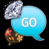 GO SMS - VintageFlowerDiamond