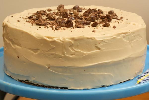 Pecan-Espresso Birthday Cake with Coffee Icing Recipe