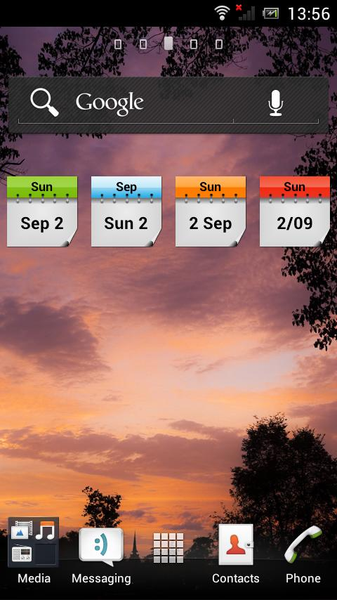 Current Date Widget- screenshot