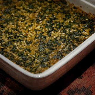 Peasant Leek and Spinach Casserole.