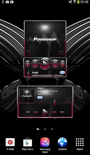 【免費音樂App】Poweramp widget Raspberry Glow-APP點子