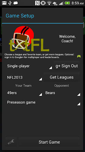 tXtFL: strategic football for PC