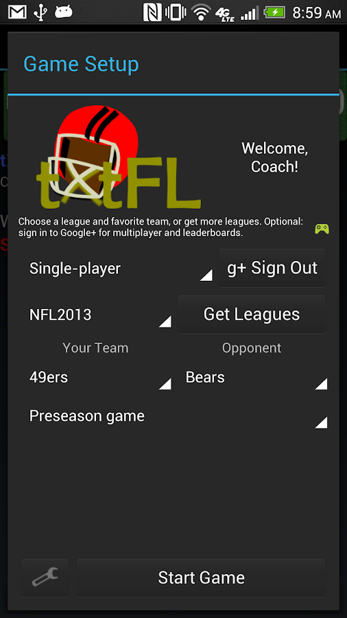 tXtFL: strategic football- screenshot