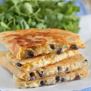 Salsa Verde Chicken and Black Bean 3 Cheese Quesadilla