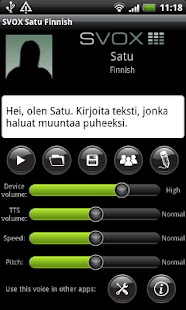 SVOX Finnish Satu Voice - screenshot thumbnail