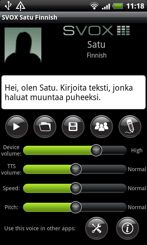 SVOX Finnish Satu Voice - screenshot